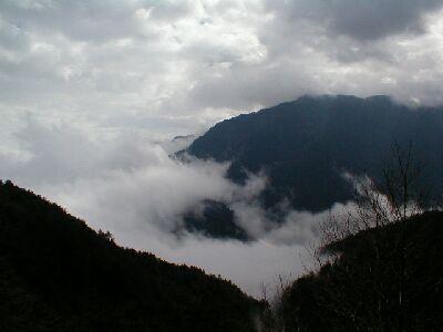 Wolken in Lishan